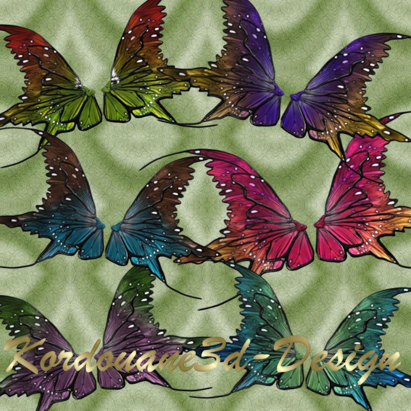 6 tubes de paires d'ailes (wings-fantasy)