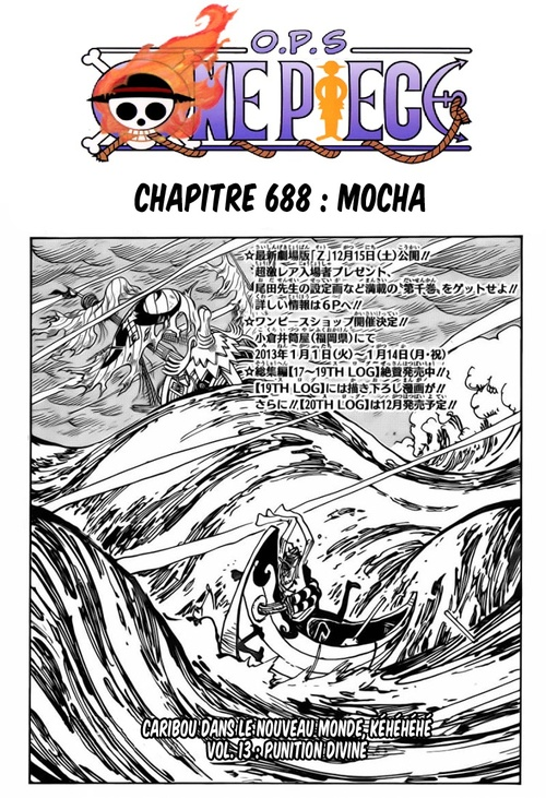 One Piece chapitre 688 en Version Française
