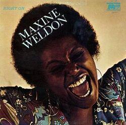 Maxine Weldon - Right On - Complete LP
