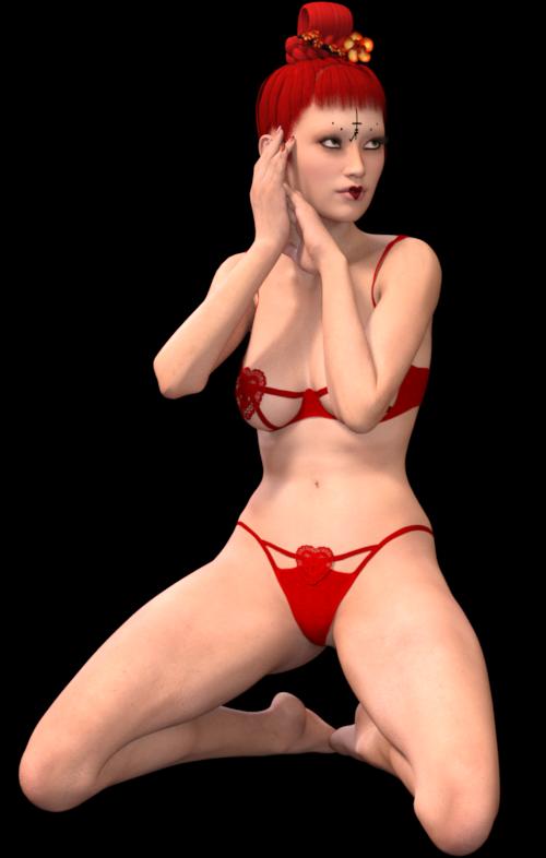 Tube de femme sexy (render-image)