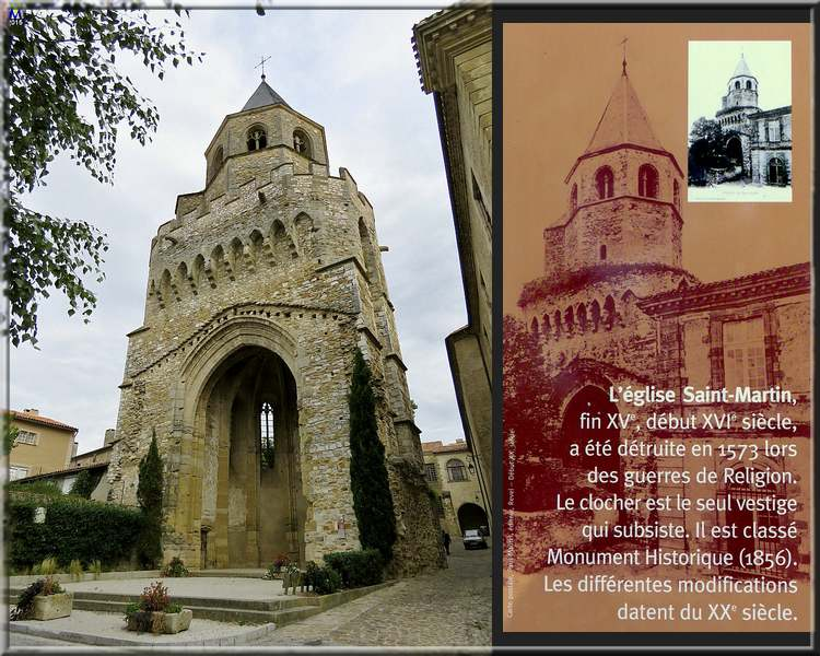 Le clocher de l'église Saint-Martin à Sorèze