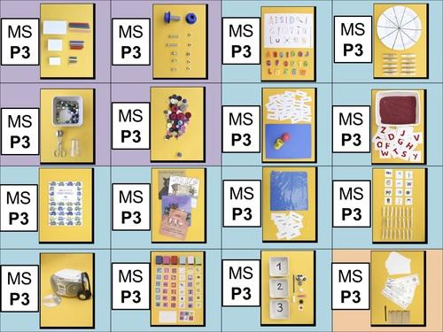 Etiquettes MS Ateliers P3, P4, P5