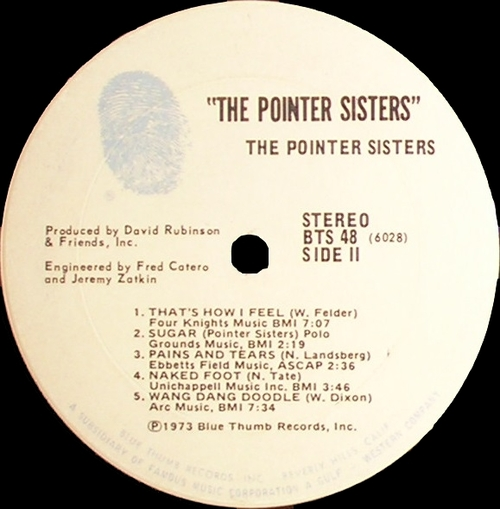 "The Pointer Sisters : Album "" The Pointer Sisters "" Blue Thumb Records BTS 48 [ US ]"