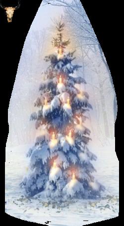Tube Sapin de Noël pastel (mist)