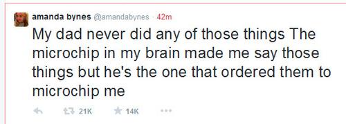 ➤ Amanda Bynes dénonce les viols de son père sur tweeter