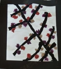 Arts visuels ce1 cerisier japonais