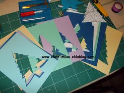Sapin de noël en pliage de papier