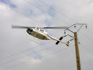 Surveillance du réseau électrique aérien par hélicoptère