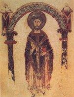 saint Hilaire de Poitiers, enluminure de la Vita S. Hilarii
