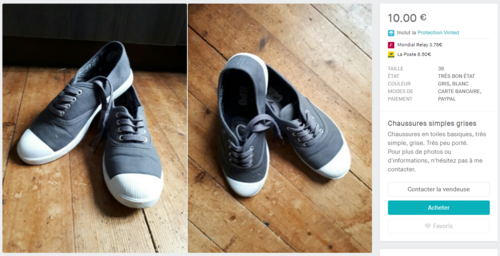 Chaussures simples grises