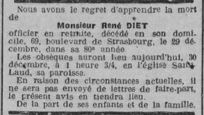René DIET, un Médaillé de 1870 parmi d'autres