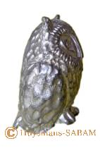 Sculpture hibou, miniature de collection en étain - Arts et sculpture: sculpteur, artisan d'art