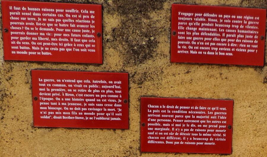 Biron rend hommage aux morts de la guerre