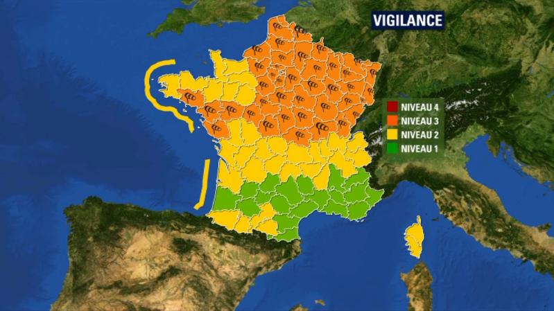 """Tempête Freya: 44 départements placés en vigilance orange pour """"vents violents"""""""