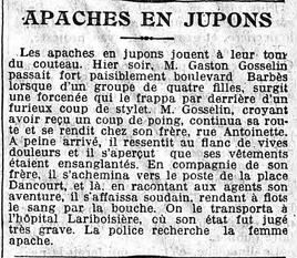Les Apaches en jupons