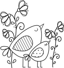 Oiseaux et fleurs des champs Birdie Brown: Dreaming Birds - Freebie!