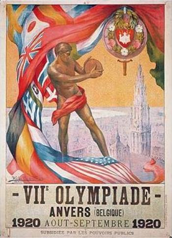 Affiche des jeux olympiques de 1920