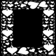 Masks Série 4 Formes Coeurs