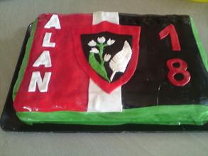 gâteau RCT / All Blacks pour les 18 ans d' Alan