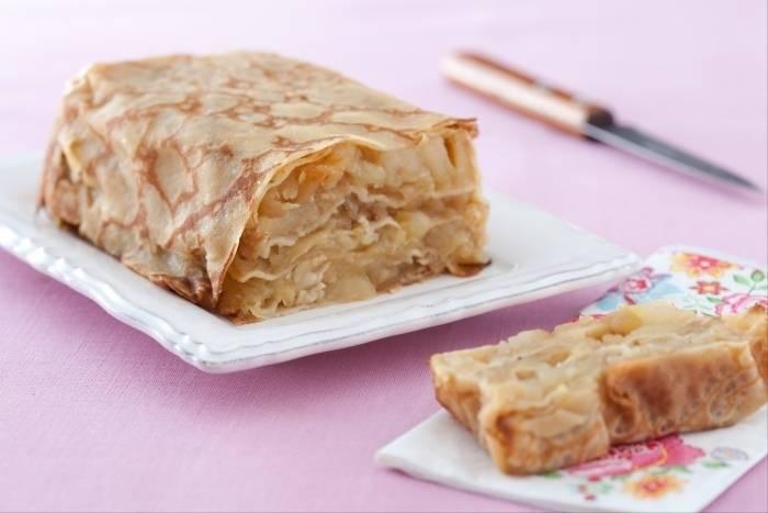 Recette de Gâteau de crêpes aux pommes