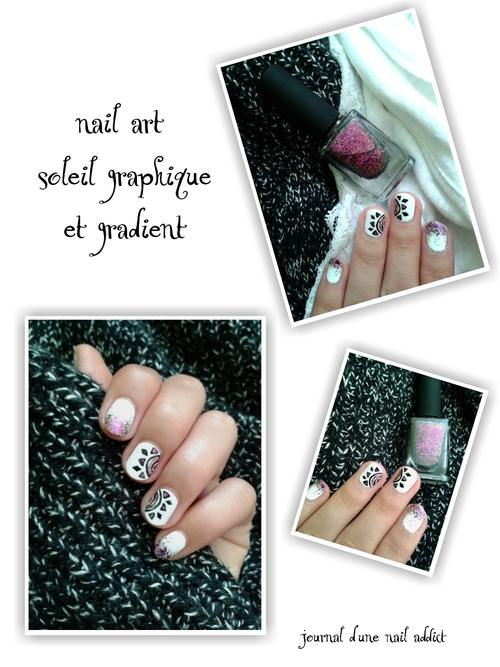nail art soleil graphique et gradient journal d'une nail addict