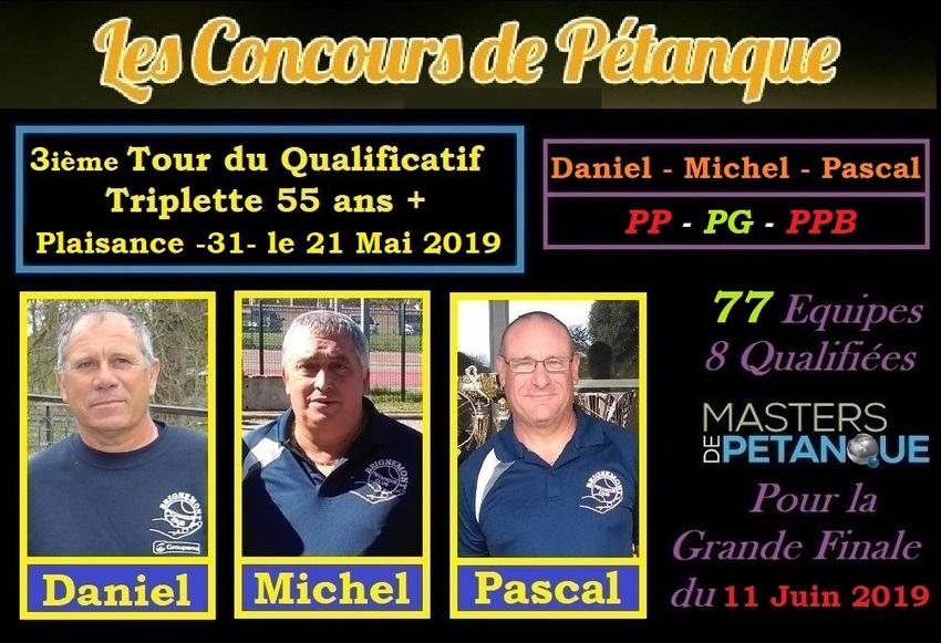 3 Ième Tour Qualificatif du Régional Triplette à Plaisance 55 ans+