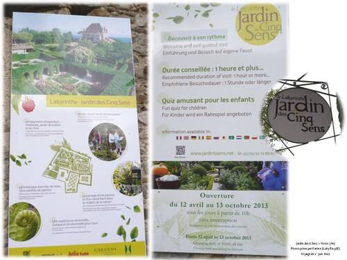 Voyage à Yvoire : Jardin des 5 sens