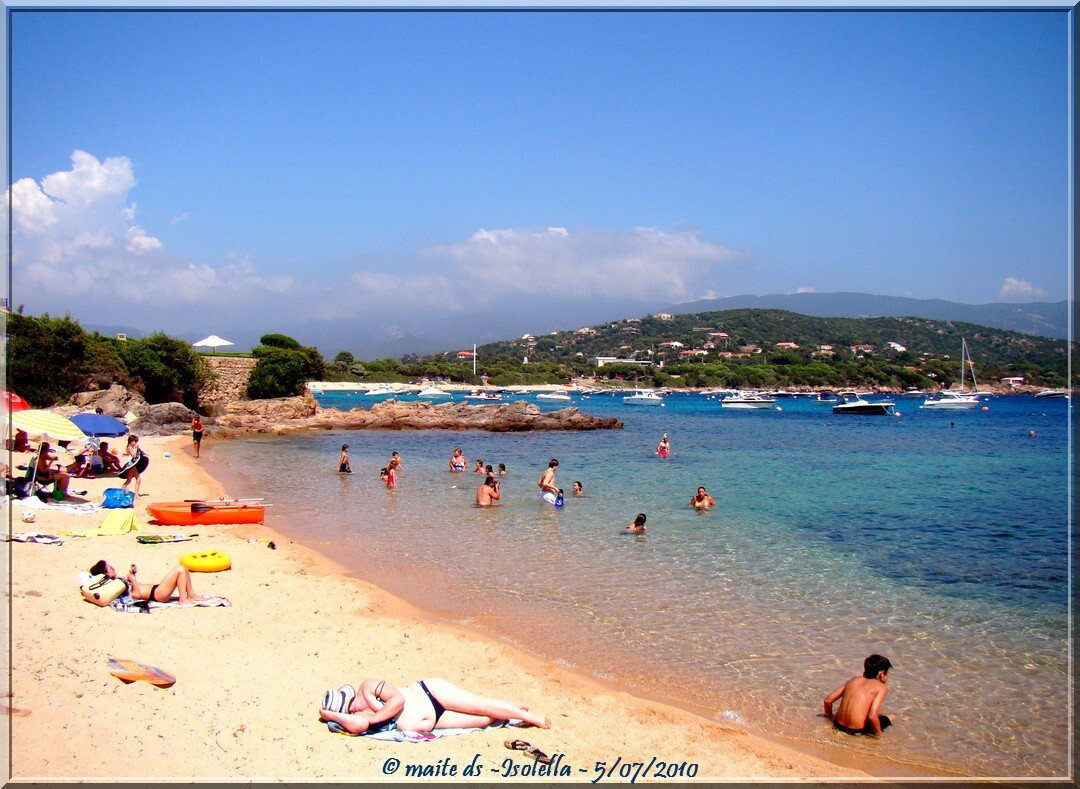 Plage  d'Isolella - Corse