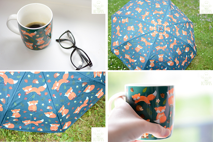 Chezfee.com objets kawaii - puckator renard - mug parapluie - Magic octopus blog