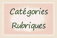 Catégories / Rubriques