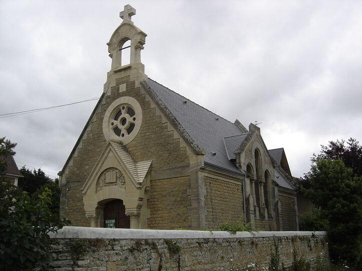 Lion-sur-Mer, Temple protestant.JPG