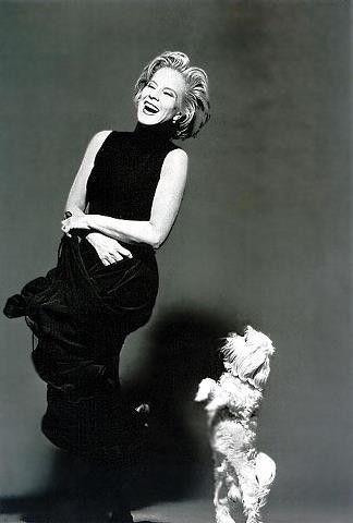Sylvie Vartan et son chien Snif: