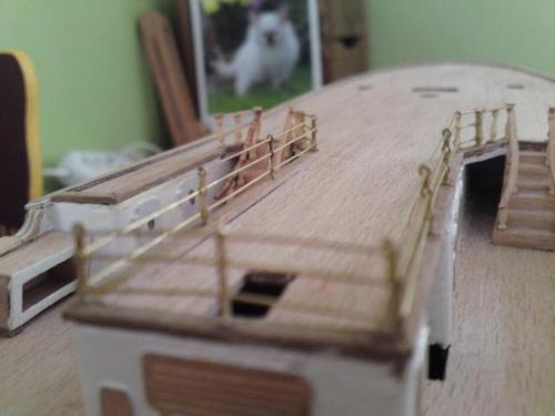 Amerigo Vespucci,voilier-école italien, du vrai navire à la réalisation de la maquette