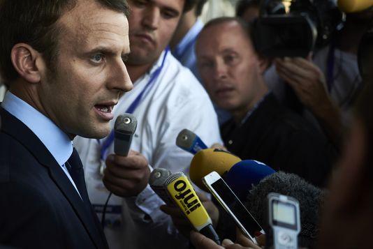 Emmanuel Macron à Lyon le 24 septembre.