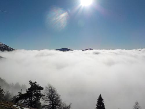 DOMANDALAS  randonnée moitié brouillard moitié ciel bleu