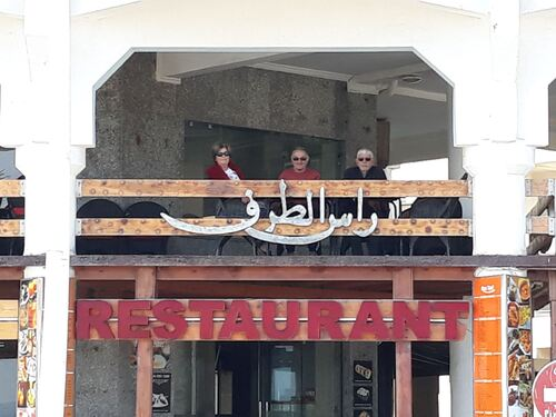 Installation sur la terrasse