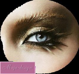 Női - szem - száj tubek
