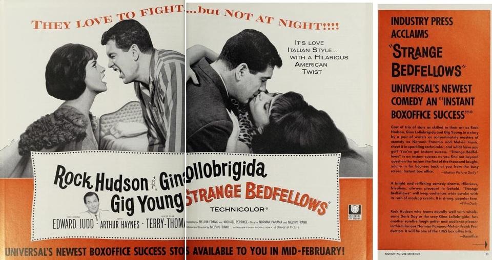STRANGE BEDFELLOWS BOX OFFICE USA 1965