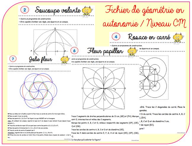 Fichier d 39 autonomie en g om trie cycle 3 christall 39 ecole - Mandalas cycle 3 ...