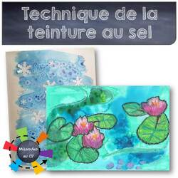 Technique de la teinture au sel