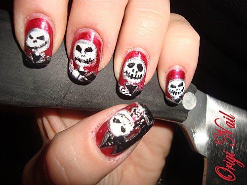 halloween 2010 1er essai acrylique