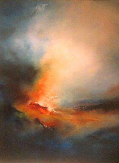 Peinture à l'huile paysage abstrait