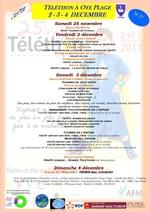 programme téléthon 2011