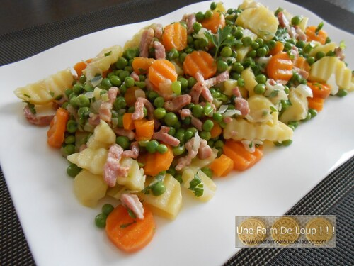 Printanière de légumes aux petits lardons