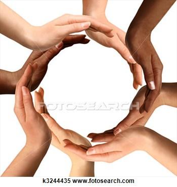 Banque d'Image - multiracial, mains,  confection, cercle.  fotosearch - recherchez  des photos, des  images et des  cliparts