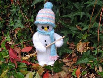 Bonhomme de neige knitt
