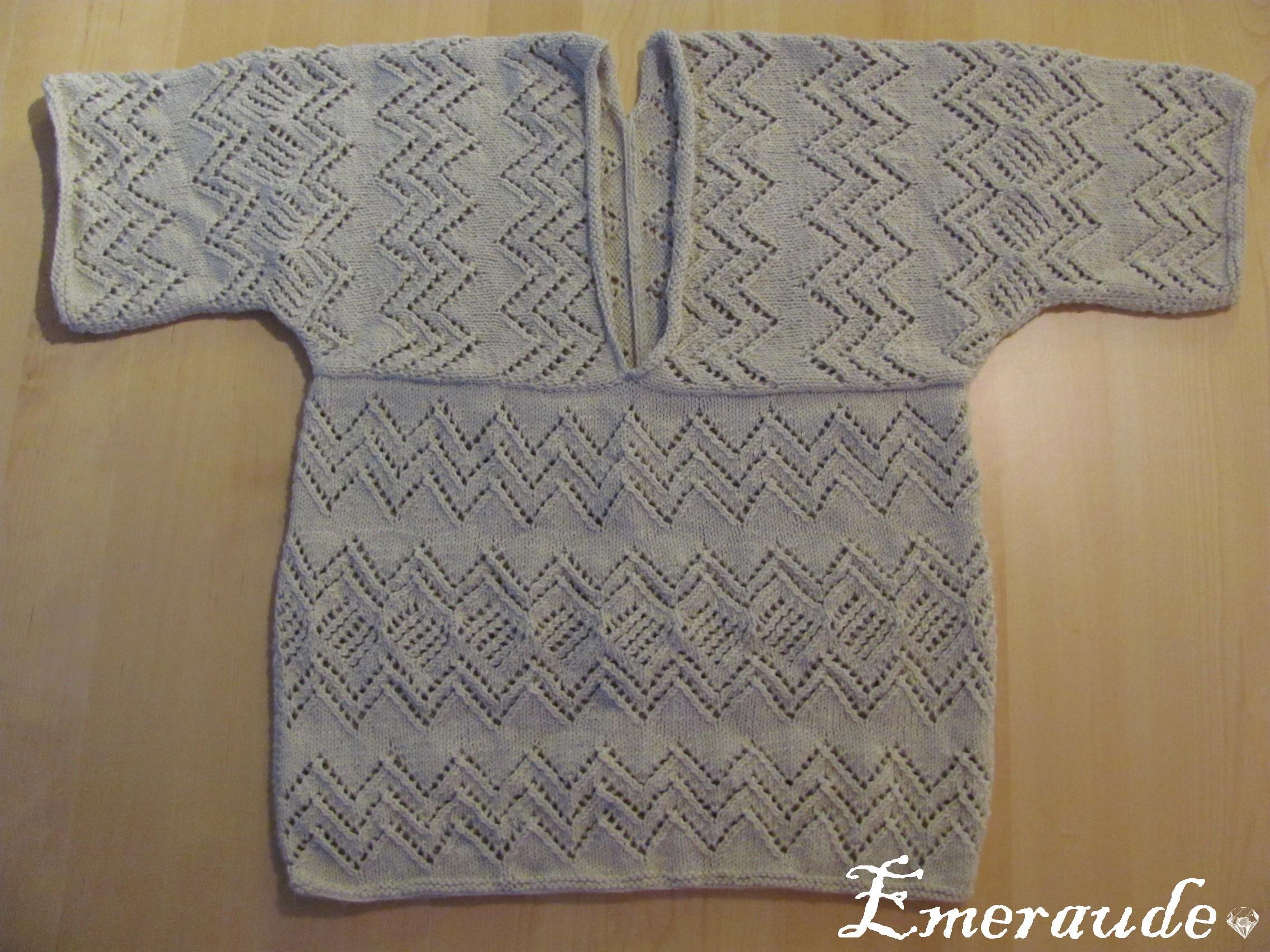 Tricot: pull ajouré