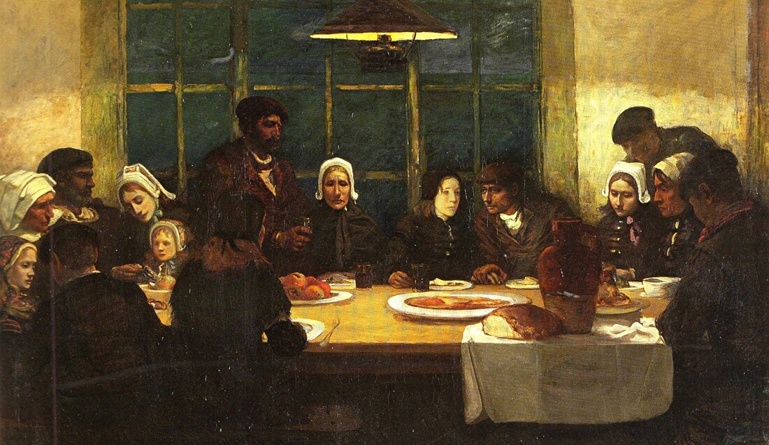 Douarnenez 4 / Le repas des Adieux (1898)