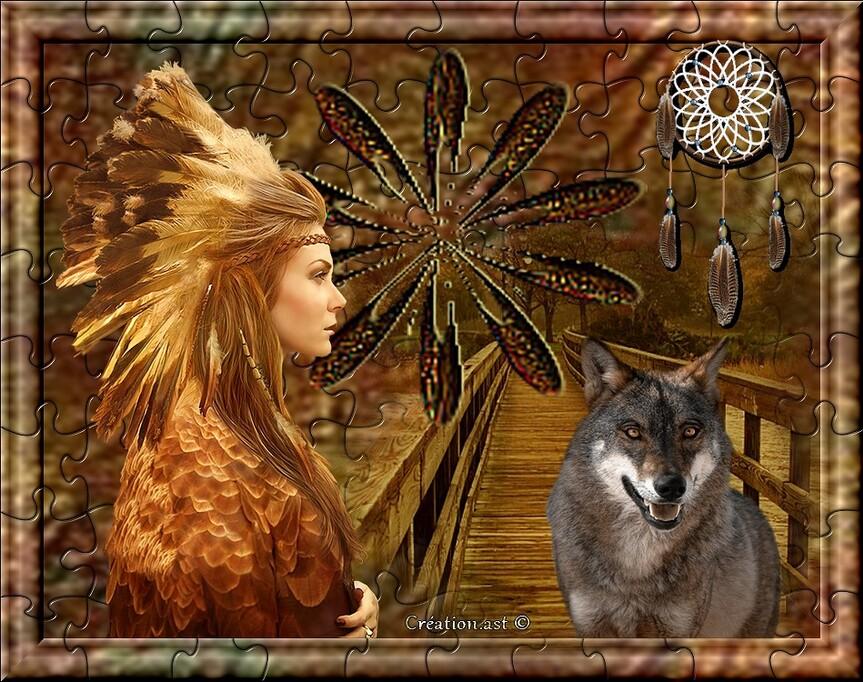 Mes créations.. Amérindienne