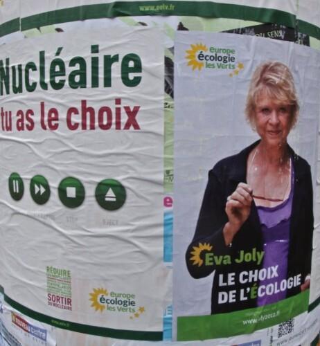 affiche Présidentielle 2012 Eva Joly nucléaire 3